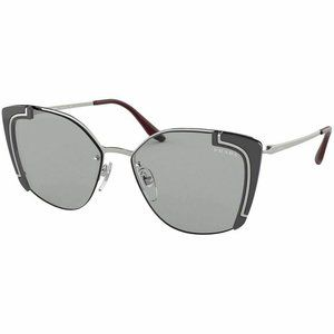 Prada Cat Eye Style Sunglasses W/Light Grey Lens
